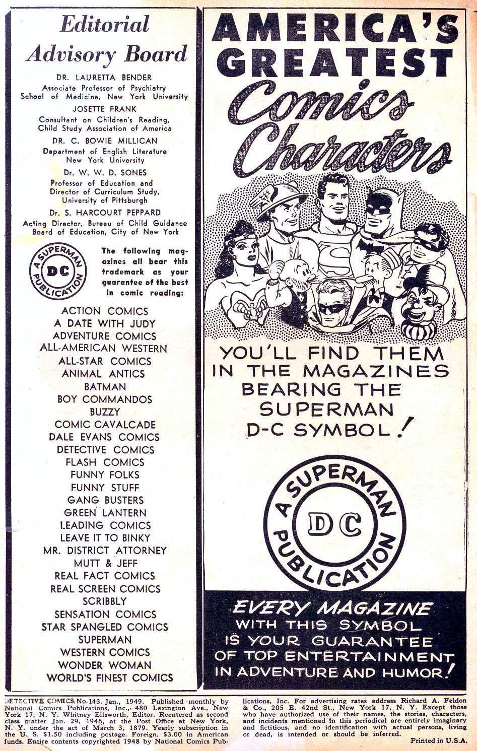 Detective Comics (1937) 143 Page 1