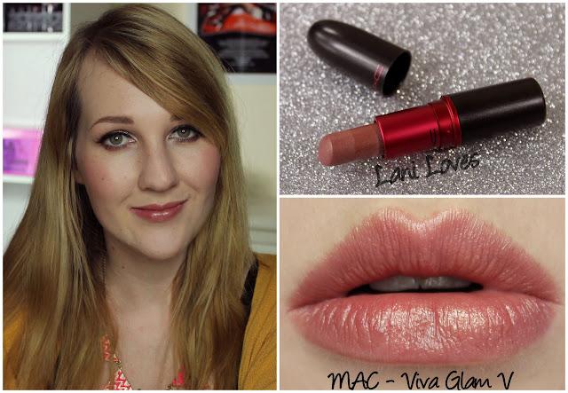 MAC Viva Glam V lipstick swatch