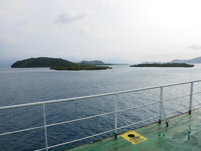 Pemandangan dari kapal penyebrangan Merak-Bakauheuni