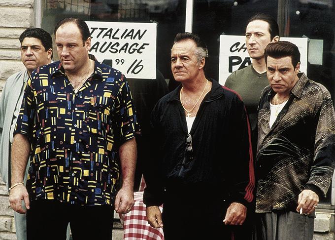 Tony Soprano, Silvio Dante, Paulie, Bobby Baccala. Los mafiosos de Los Soprano HBO