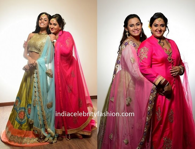 Radha Daughters Outfits at her 25 Years Wedding Anniverary