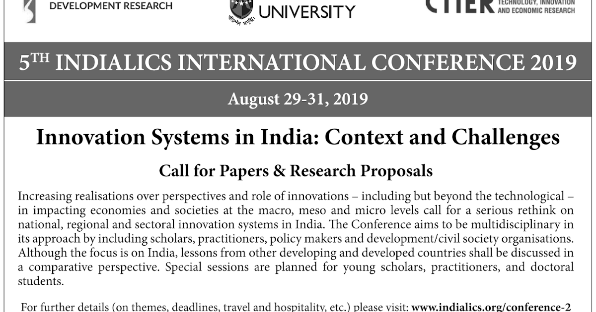 Research Blog | Centre for Studies in Science Policy: CfPs