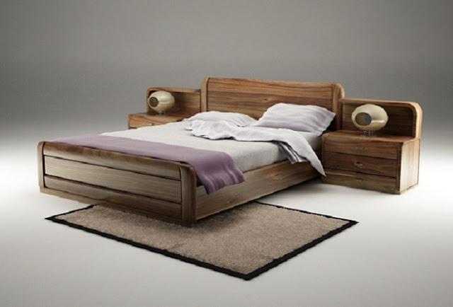Giường ngủ làm bằng gỗ óc chó có đặc điểm gì nổi bật