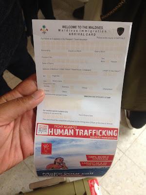 Arrival Card Maldives Menjadi Wajib untuk di isi