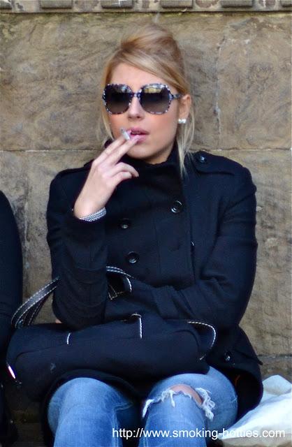 Beautiful blonde smoker – Smoking Hotties