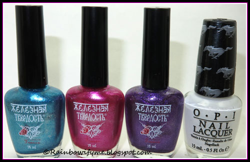 El Corazón Iron Hard: #418/254, #418/255, #418/256; OPI: Angel with a Leadfoot