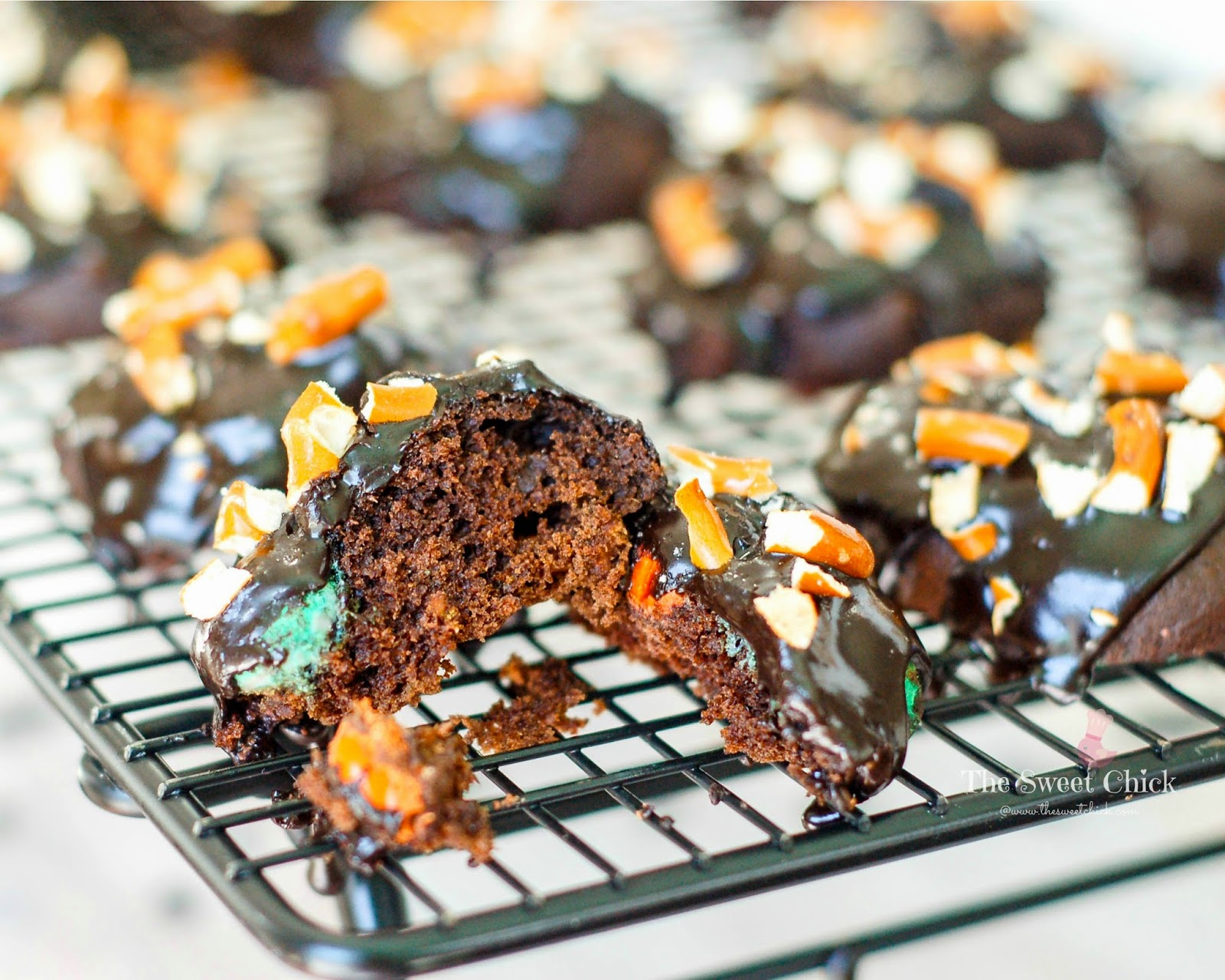 Soft Chocolate Pumpkin Spice Cookies by The Sweet Chick