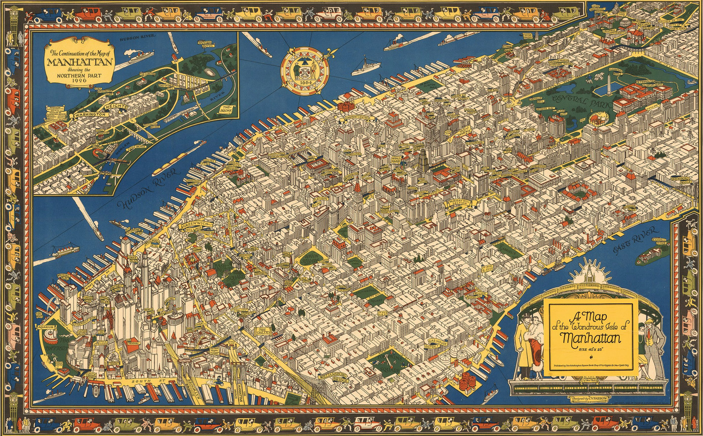 A map of the wondrous isle of Manhattan (1926)
