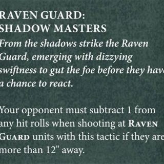 space marines ravenguard chapter tactics
