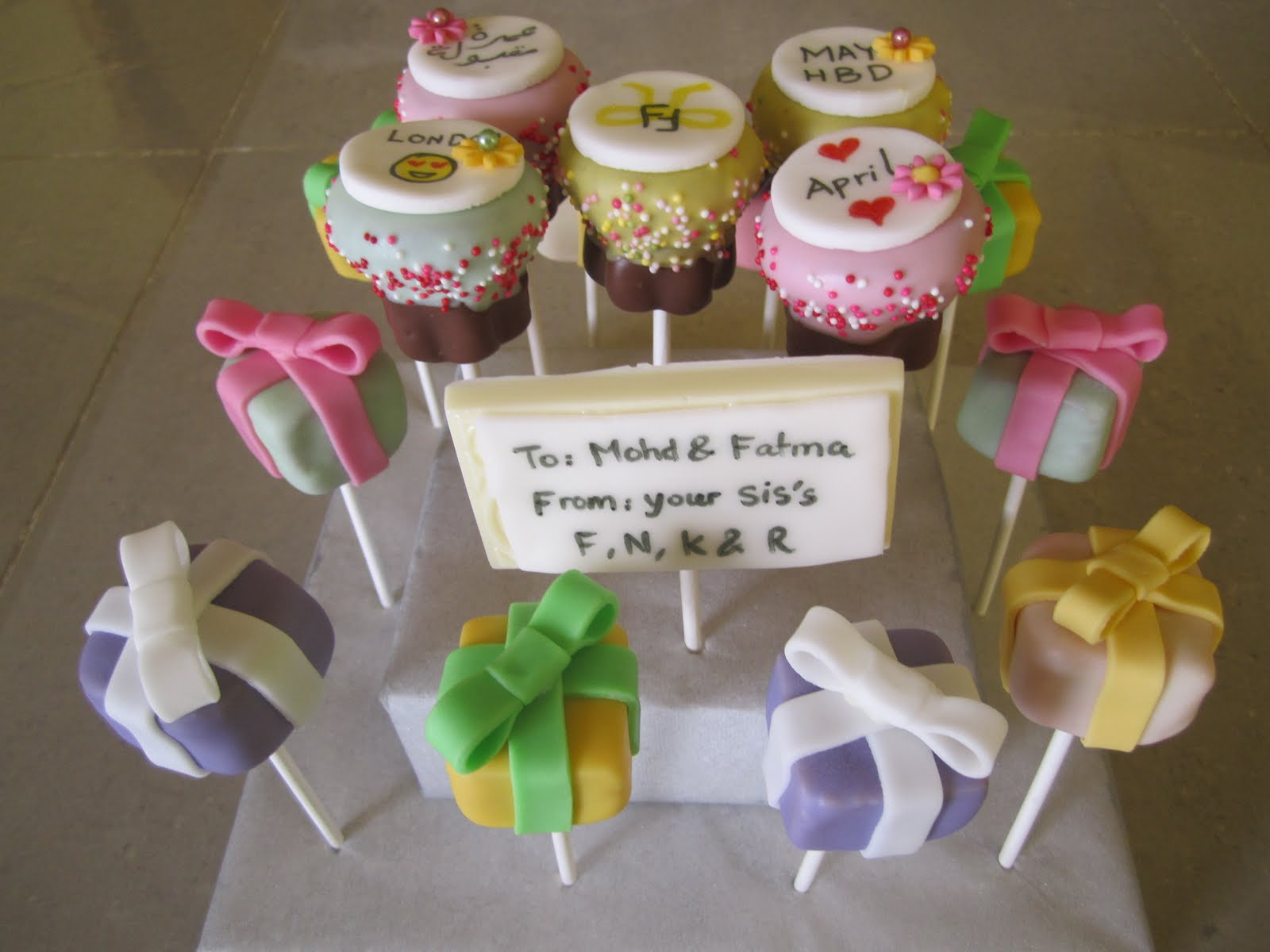 Pops Cake Birthday T Cake Pops