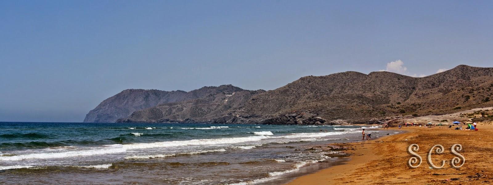 Vistas desde Playa Larga a Playa Negrete en Calblanque (Murcia)