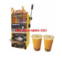 Mesin cup sealer manual (mesin penutup gelas minuman plastik manual)