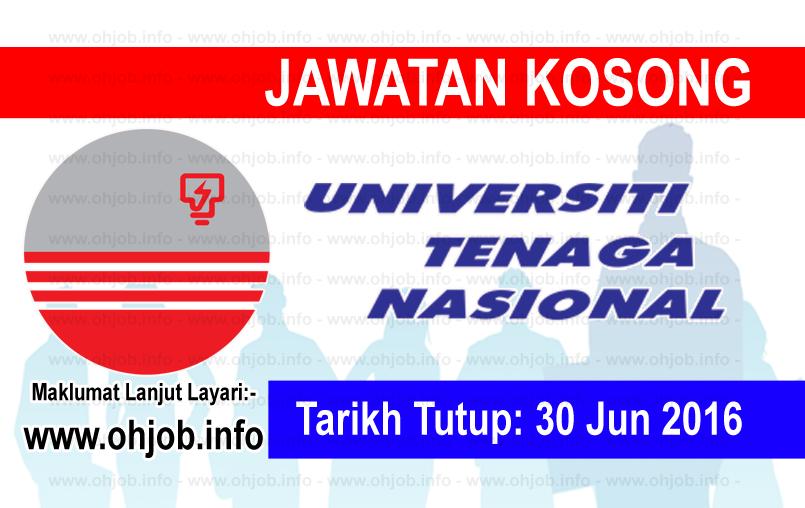 Jawatan Kerja Kosong Universiti Tenaga Nasional (UNITEN) logo www.ohjob.info jun 2016
