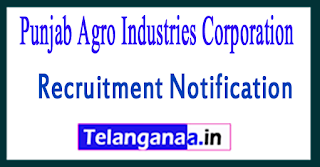 PAIC Punjab Agro Industries Corporation Recruitment Notification 2017 Last Date 03-08-2017