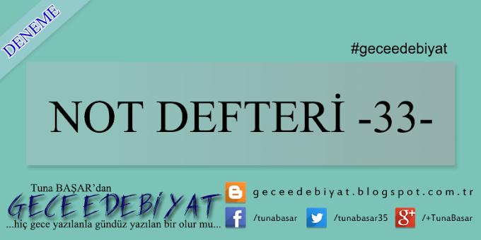 Not Defteri -33-