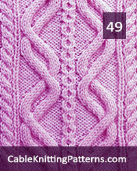 Cable Knitting 49 -Free Pattern. Skill level: Advanced knitter and up
