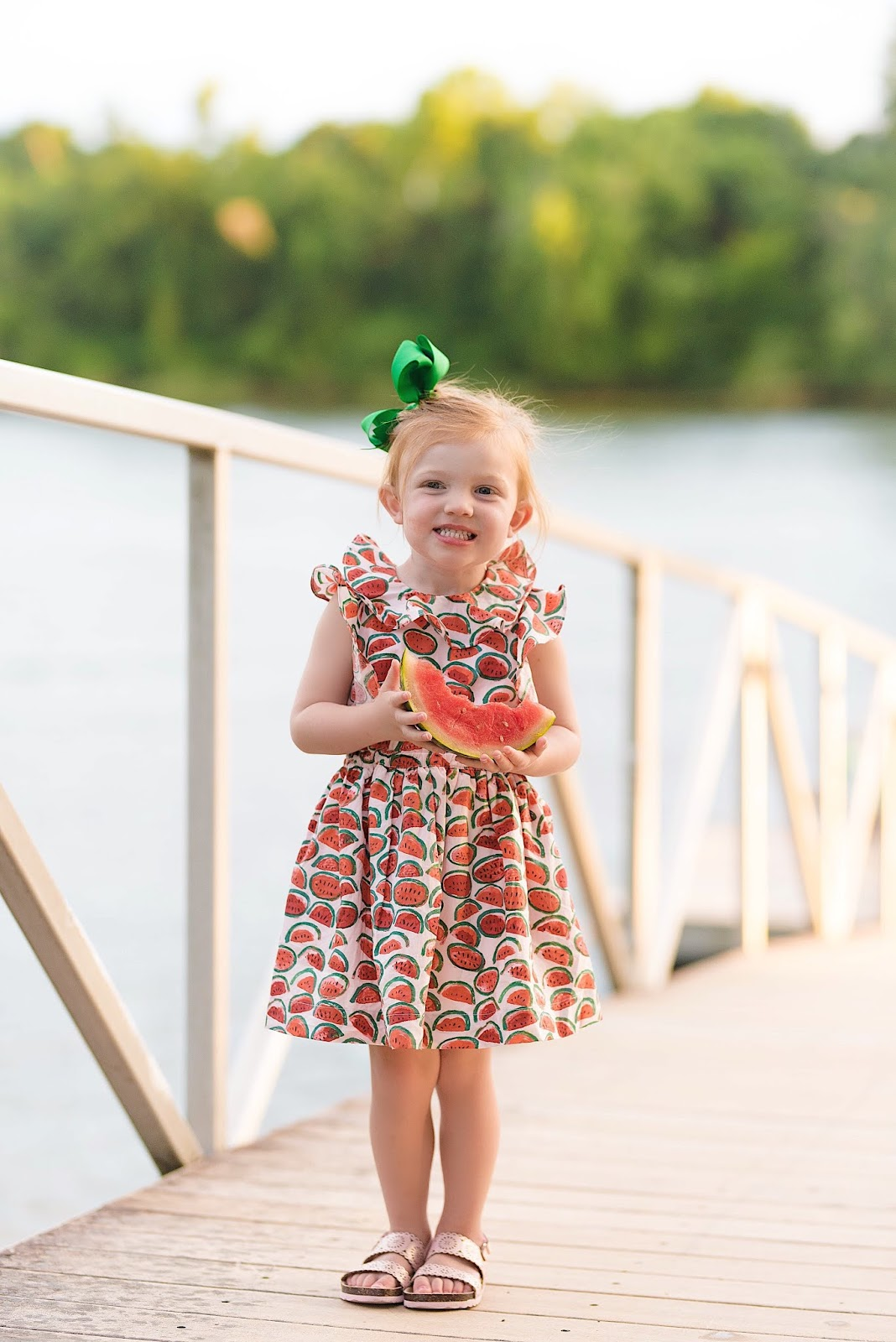 Girls J.Crew Factory Ruffle Watermelon Dress - Something Delightful Blog