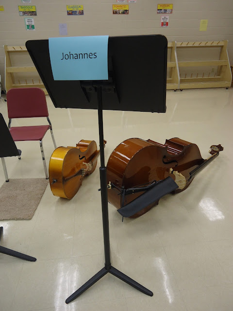 Name card for elementary orchestra