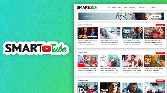Smart Tube Professional Video Blogger Template