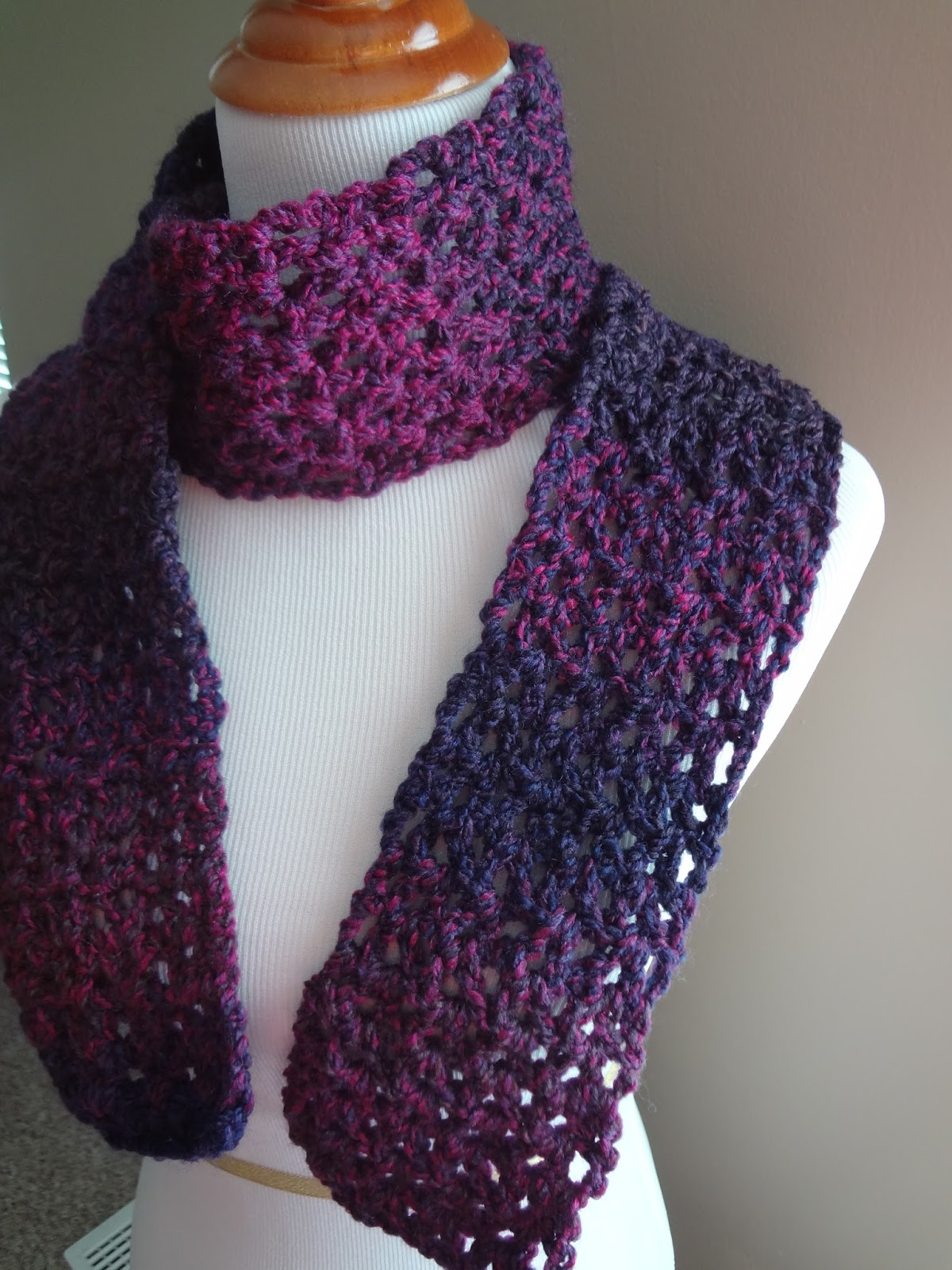 Adventures in Stitching Free Crochet PatternBlueberry Pie Scarf Free Pattern For Crocheted Scarf