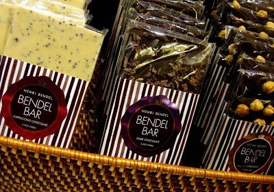 Basket of Bendel Bars at The Bendel Snack Bar at Henri Bendel in New York, NY - Photo by Taste As You Go