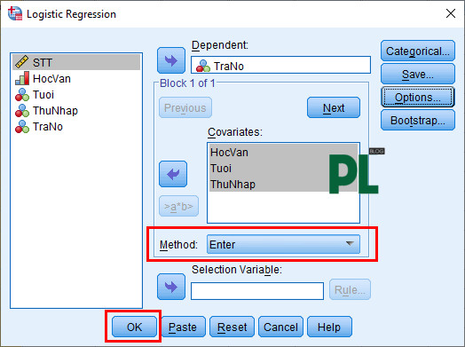 Hồi quy Binary Logistic trong SPSS