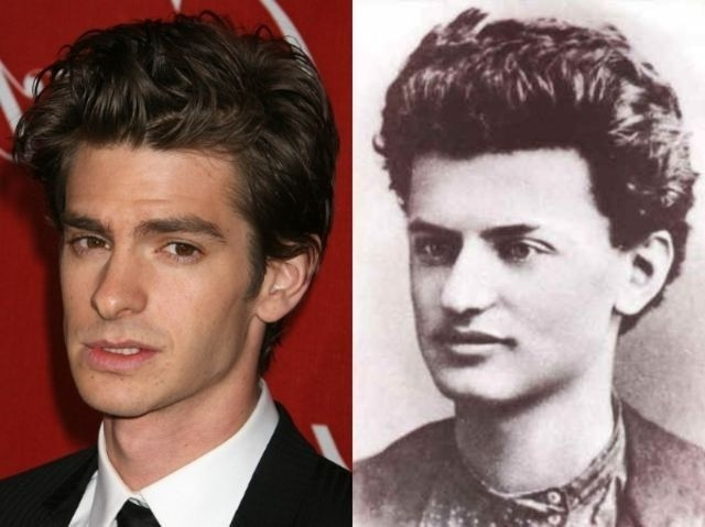 Andrew Garfield and young Leon Trotsky