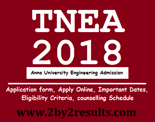 TNEA 2018 Counselling Vacancy Position Live Status Online Anna University