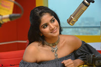 Mega Akash in a sleeveless Off Shoulder Cute Dress Stunnign beauty at Radio Mirchi Promoting Movie LIE ~ Celebrities Galleries 012.JPG