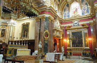 Interior de la Catedral de Mdina.