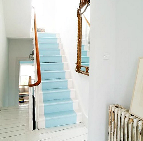 Blue Painted Stair