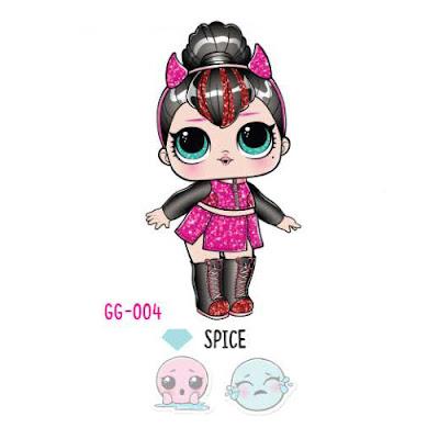 Как выглядит блестящая кукла Spice из коллекции L.O.L. Surprise Glam Glitter Series 2