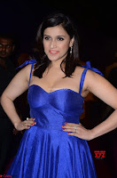 Mannara Chopra in Deep Neck Blue Gown at Zee Telugu Apsara Awards ~  Exclusive 015.jpg