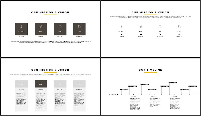 Desktop Screen Mock-up and Multi - Purpose Free PowerPoint Template [SIMPLE] Slides 9-12