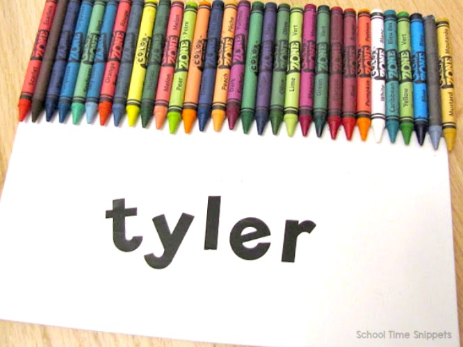 Crayon Name Art