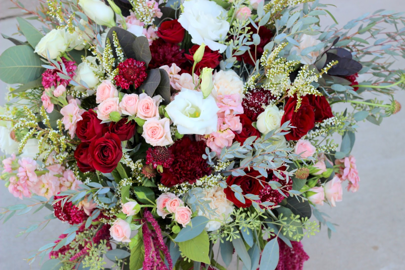 Celebration Flair: Blush and Merlot Wedding Day: Samantha + Landon