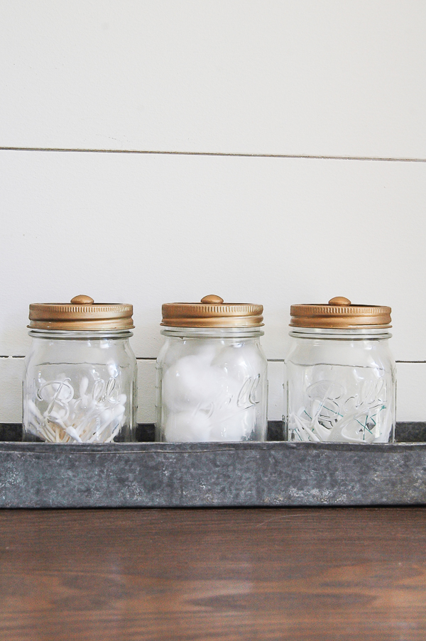 Rub 'n Buff Mason jar storage