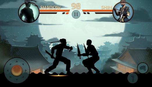 Tampilan game Shadow Fight 2