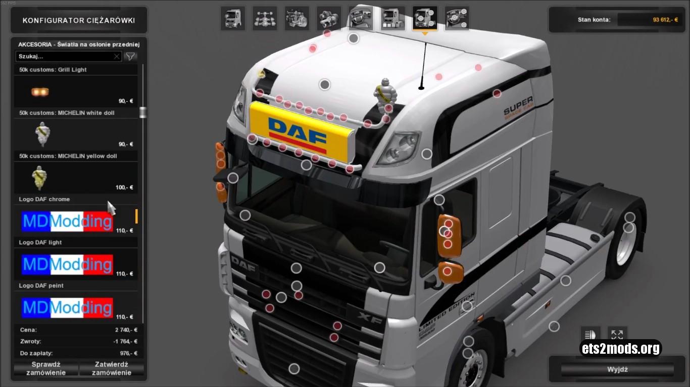 DAF Lightbox for DAF XF