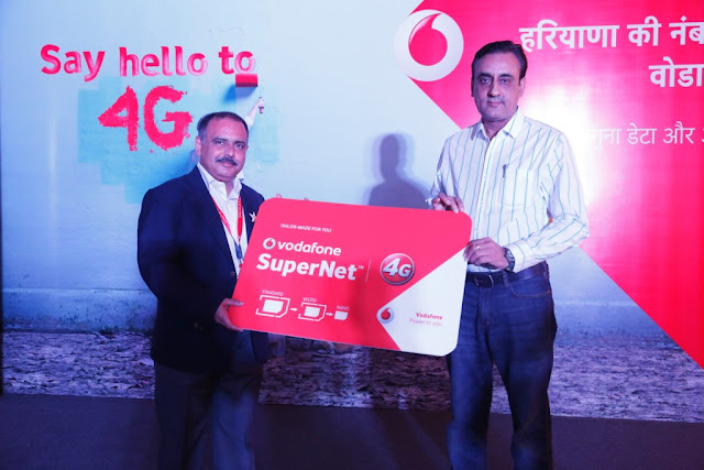 Photo Caption (L-R), Shri Mohit Narru, Business Head-Haryana ,Vodafone India with Capt. Manoj Kumar Addl Deputy Commissionar Rewari, Hary