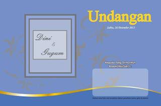 Download Template Desain Undangan Pernikahan Format CDR