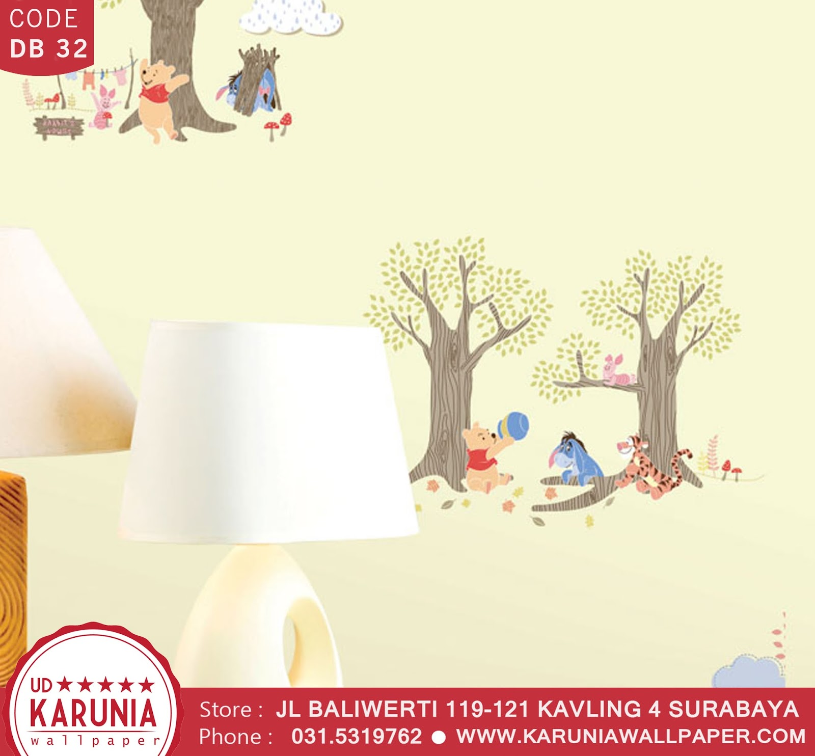 jual wallpaper anak disney winnie the pooh toko karuniawallpaper surabaya