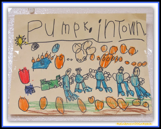 Pumpkin Town Kindergarten Drawing via RainbowsWithinReach