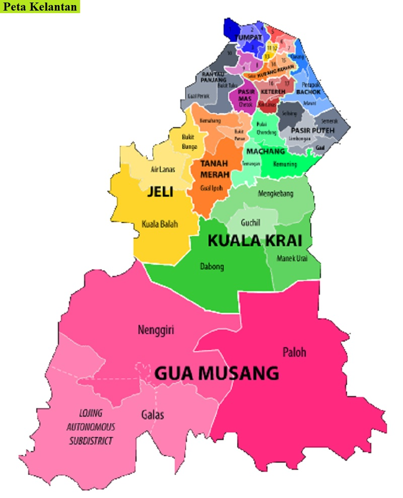 Peta Kelantan