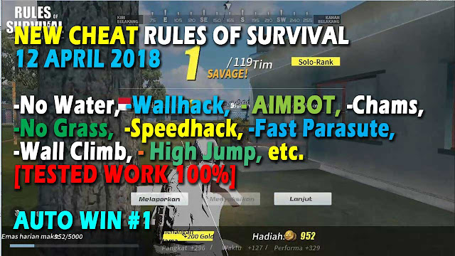 Cheat Rules of Survival Glutamin 8.0 Update 18 April 2018