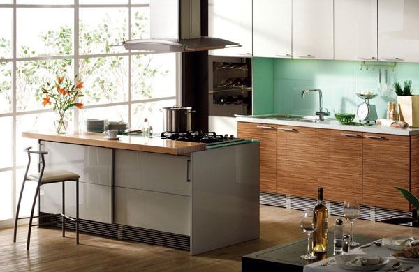 Hogares frescos 30 dise os de cocina con islas a adiendo un toque moderno a tu hogar - Disenos de islas para cocinas ...