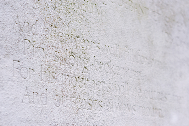 Ballad of Reading Gaol verse on Oscar Willde's tomb