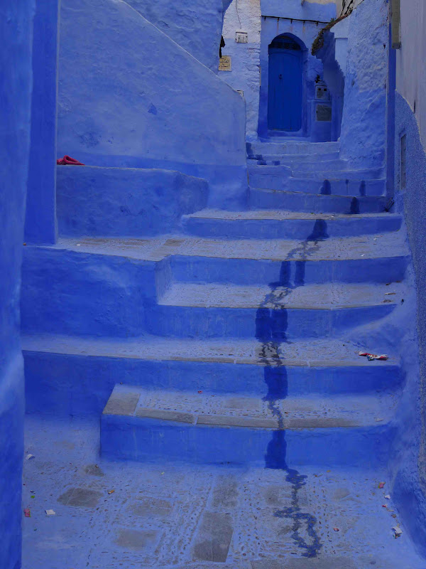 Blue Steps To Success: Jeffrey Bale's World Of Gardens: Chefchaouen Blue