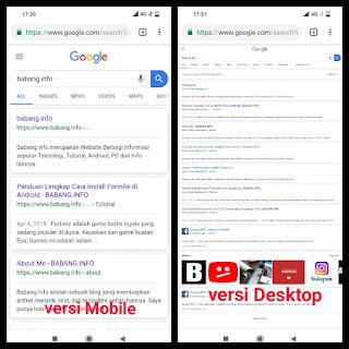 Cara Merubah Tampilan Website versi Desktop di Android