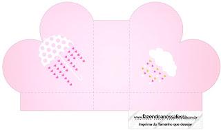 Caja abierta en forma de corazón de Lluvia de Bendiciones para Nena.